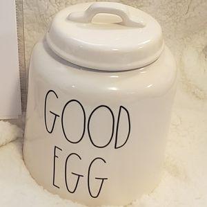 Rae Dunn GOOD EGG canister
